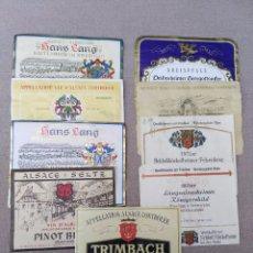 Coleccionismo de vinos y licores: LOTE DE ANTIGUAS ETIQUETAS DE VINO . Lote 105078979