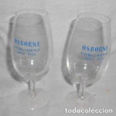 Coleccionismo de vinos y licores: LOTE DE 2 COPAS CATAVINOS DE JEREZ SECO COQUINERO, DE OSBORNE. Lote 105082903