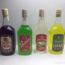 Coleccionismo de vinos y licores: LOTE DE BOTELLAS DESTILERIAS LLADO ARENYS DE MUNT. Lote 114953252