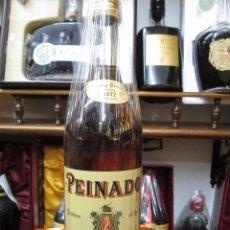 Coleccionismo de vinos y licores: ANTIGUA BOTELLA DE BRANDY COÑAC, PEINADO 1872 IMPUESTO DE 8 PTS, DECADA AÑOS -70-80. Lote 105318919