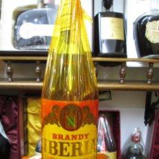 Coleccionismo de vinos y licores: ANTIGUA BOTELLA BRANDY COÑAC, IBERIA DE LOPEZ HERMANOS IMPUESTO DE 4 PTS, DECADA AÑOS 60-70. Lote 105734995