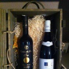 Coleccionismo de vinos y licores: PACK DE 2 BOTELLAS ( BOURGOGNE + MENCÍA VINO GALLEGO ). Lote 105892011