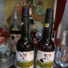 Coleccionismo de vinos y licores: VINO CALMANTE VITAMINADO MONTILLA MORILES LOTE 2 BOTELLAS. Lote 106638379