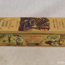 Coleccionismo de vinos y licores: CAJA METALICA CLENMORANGIE SINGLE HIGHLAND MALT SCOTCH WHISKY. Lote 107183339