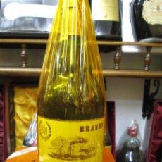 Coleccionismo de vinos y licores: ANTIGUA BOTELLA BRANDY COÑAC, SUAU 15 AÑOS 1851 ELBORADO EN MALLORCA ESPAÑA. Lote 107833131