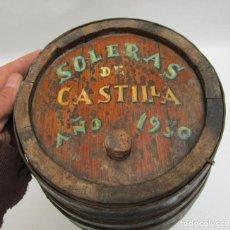 Coleccionismo de vinos y licores: 1930 ANTIGUO TONEL BODEGAS ALDIAL BARRICA VINO SOLERAS DE CASTILLA NAVA DEL REY VALLADOLID. Lote 108312327