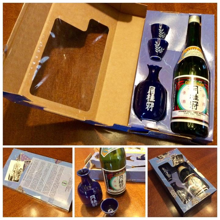 Coleccionismo de vinos y licores: Gekkeikan Sake original Japón. Set de una botella de 750ml. Con dos vasos y una jarra de porcelana. - Foto 12 - 108420071