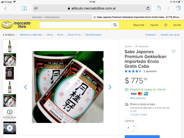Coleccionismo de vinos y licores: Gekkeikan Sake original Japón. Set de una botella de 750ml. Con dos vasos y una jarra de porcelana. - Foto 13 - 108420071