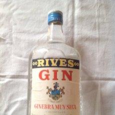 Coleccionismo de vinos y licores: BOTELLA ANTIGUA DE GINEBRA RIVES. Lote 108546444