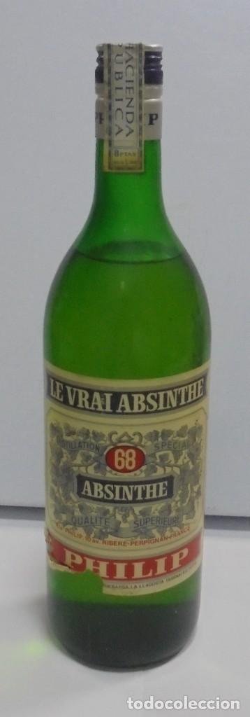 BOTELLA DE ABSENTA 68. LE VRAI ABSINTHE. 60º. CERRADA. 1 LITRO. VER FOTOS. (Coleccionismo - Botellas y Bebidas - Vinos, Licores y Aguardientes)