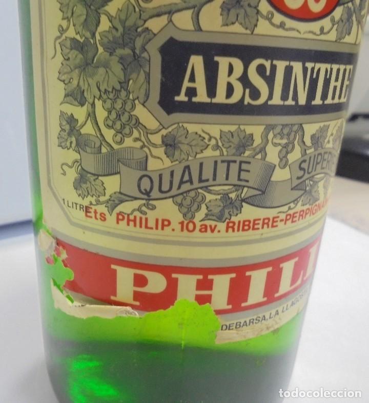 Coleccionismo de vinos y licores: BOTELLA DE ABSENTA 68. lE VRAI ABSINTHE. 60º. CERRADA. 1 LITRO. VER FOTOS. - Foto 4 - 108967259