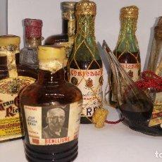 Coleccionismo de vinos y licores: COLECCION DE 8 BOTELLITAS DE LICORES. Lote 109338615