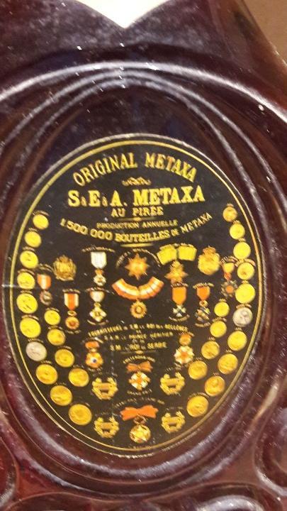 Coleccionismo de vinos y licores: EXCEPCIONAL BOTELLA DE BRANDY METAXA GRANDE FINE 40 YEARS / COMPRADA EN LOS '70 - Foto 4 - 109431867
