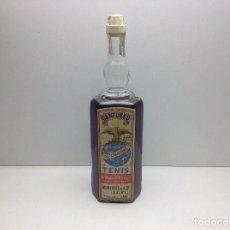 Collectionnisme de vins et liqueurs: BOTELLA DE LICOR CANTUESO MONFORTE DEL CID ALICANTE DESTILERIAS TENIS 1L. 26.4º. Lote 109558399