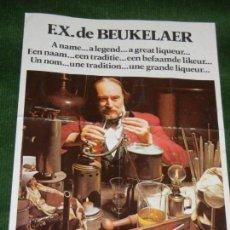 Coleccionismo de vinos y licores: BELGICA - AMBERES; ANTIGUO FOLLETO ELIXIR D'ANVERS - F.X. DE BEUKELAER. Lote 109921695