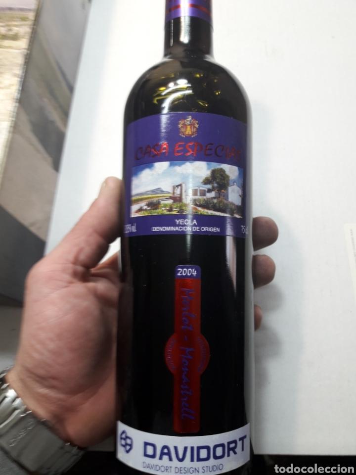Coleccionismo de vinos y licores: Botella de vino Casa Especias Yecla 2004 - Foto 2 - 110029467