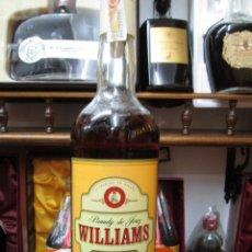 Coleccionismo de vinos y licores: ANTIGUA BOTELLA BRANDY COÑAC, WILLIAMS SOLERA DE WILLIAMS HUMBERT JEREZ ESPAÑA. Lote 110055651