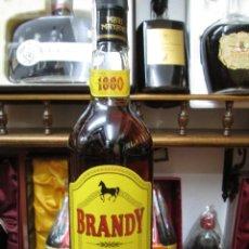 Coleccionismo de vinos y licores: ANTIGUA BOTELLA BRANDY COÑAC, MARI MAYANS 1880 SOLERA IBIZA ESPAÑA. Lote 110056739