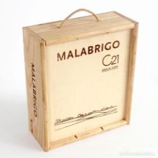 Coleccionismo de vinos y licores: MALABRIGO RIBERA DEL DUERO. CAJA MADERA VINO VACÍA. Lote 110098831