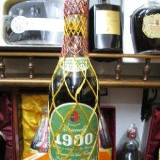 Coleccionismo de vinos y licores: ANTIGUA BOTELLA BRANDY COÑAC, TERRY 1900 VIEJO ETIQUETA VERDE, DE IMPUESTO DE 80 CTS, DECADA AÑOS 50. Lote 110805835