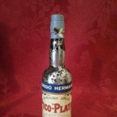 Coleccionismo de vinos y licores: BOTELLA MINIATURA PICO PLATA SANLUCAR DE BARRAMEDA CHIPIONA. Lote 112337607