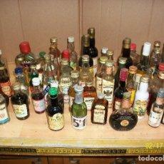 Coleccionismo de vinos y licores: LOTE DE 60 BOTELLINES. Lote 112735615