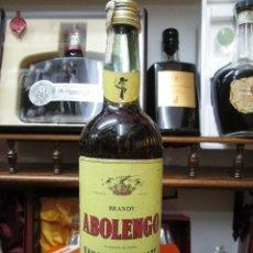 Coleccionismo de vinos y licores: ANTIGUA BOTELLA BRANDY COÑAC, ABOLENGO 1781 DE SANCHEZ ROMATE IMPUESTO DE 8 PTS, DECADA 80. Lote 113420679