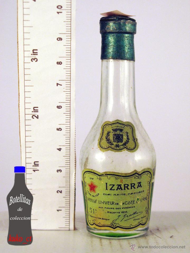 BOTELLITA BOTELLIN IZARRA LIQUEUR COTE BASQUE (Coleccionismo - Botellas y Bebidas - Vinos, Licores y Aguardientes)
