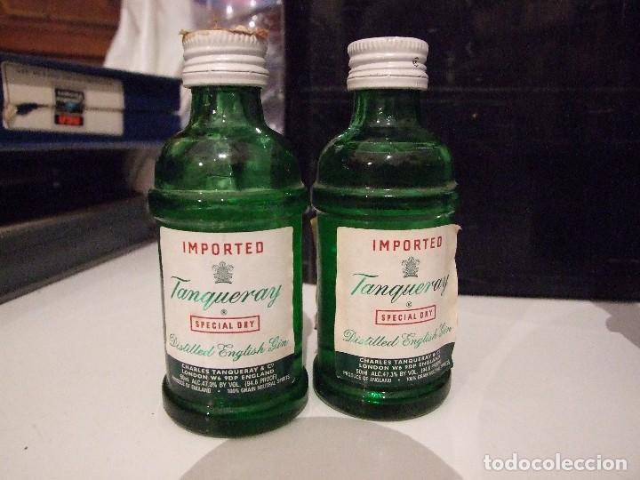 PAREJA DE BOTELLINES GINEBRA TANQUERAY SPECIAL DRY - PRECINTADAS (Coleccionismo - Botellas y Bebidas - Vinos, Licores y Aguardientes)
