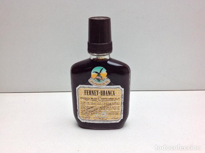 RARA Y ANTIGUA PETACA FERNET - BRANCA 10CL.45º (Coleccionismo - Botellas y Bebidas - Vinos, Licores y Aguardientes)