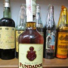 Coleccionismo de vinos y licores: ANTIGUA BOTELLA BRANDY COÑAC, FUNDADOR SOLERA RESERVA DE PEDRO DOMECG. Lote 115306903