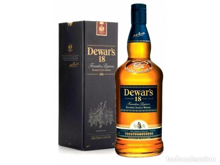 BOTELLA DE WHISKY DEWAR'S 18 AÑOS. 70 CL - 700 ML. ESTUCHADA Y PRECINTADA (Coleccionismo - Botellas y Bebidas - Vinos, Licores y Aguardientes)