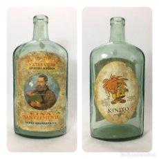 Coleccionismo de vinos y licores: BOTELLA VINO KINA SAN CLEMENTE. LÓPEZ HERMANOS. Lote 116750471