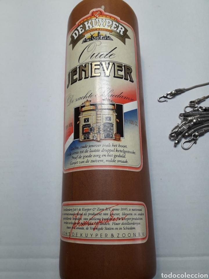 BOTELLA BARRO ANTIGUA GINEBRA JENEVER 1 LITRO (Coleccionismo - Botellas y Bebidas - Vinos, Licores y Aguardientes)