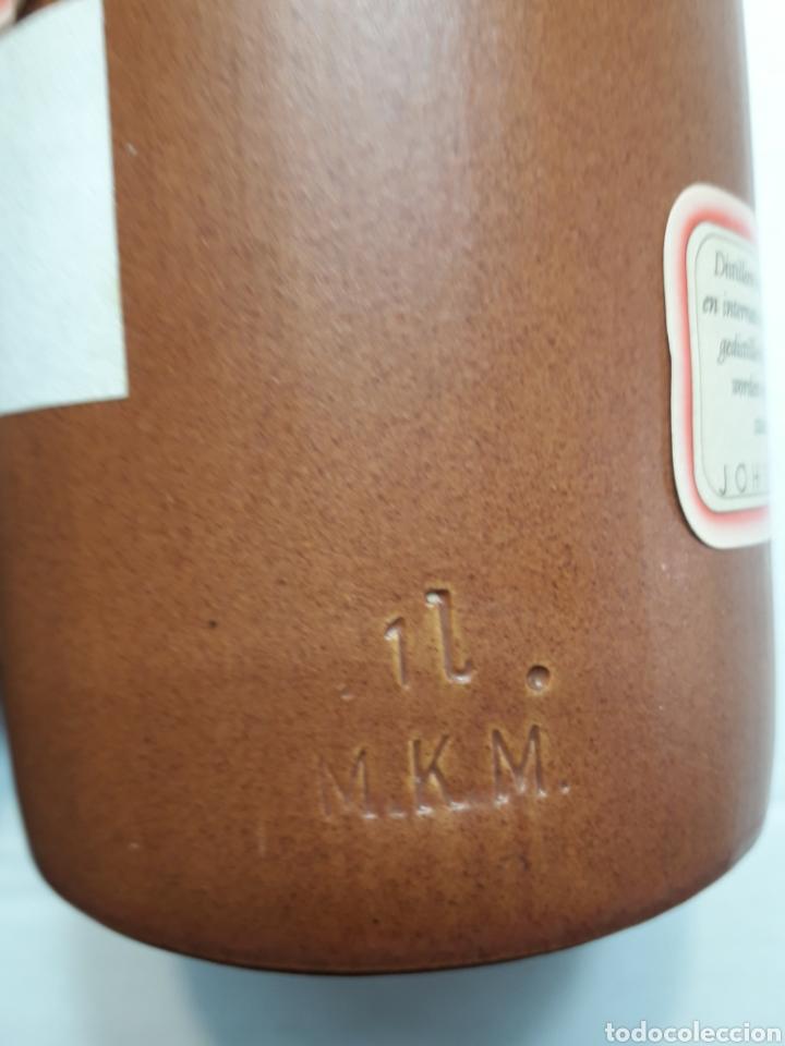 Coleccionismo de vinos y licores: Botella barro antigua Ginebra Jenever 1 litro - Foto 4 - 116753567