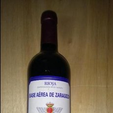 Coleccionismo de vinos y licores: BASE AÉREA ZARAGOZA. Lote 111279411