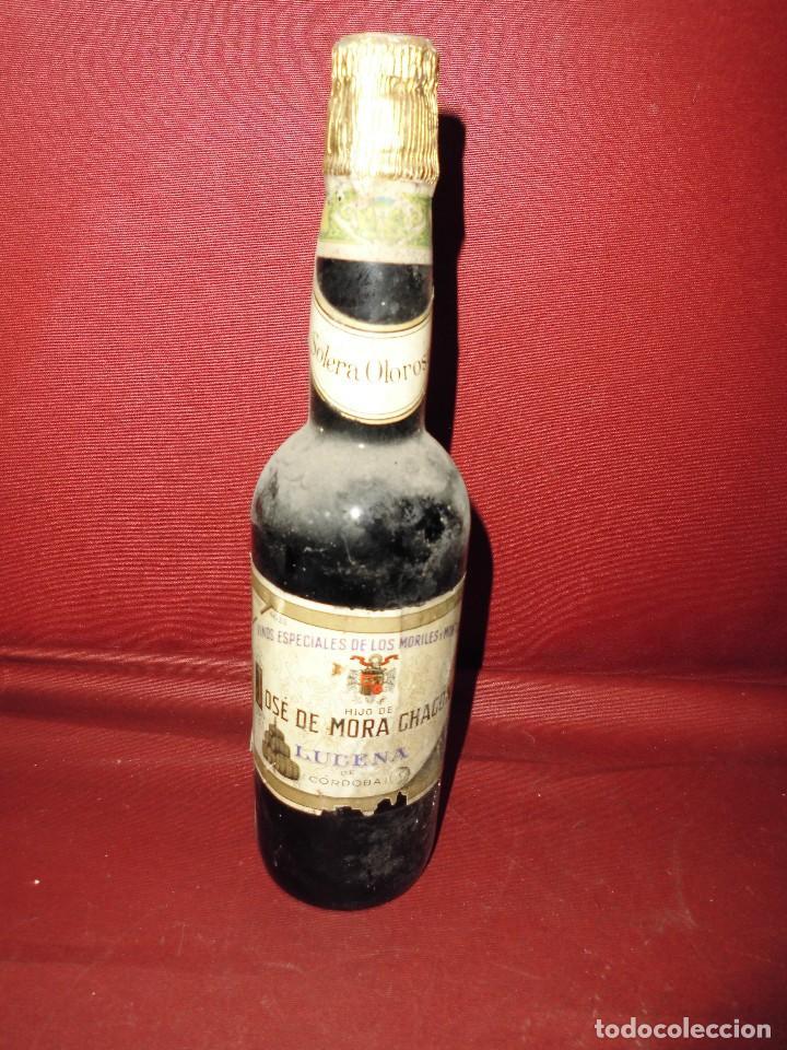 MAGNIFICA ANTIGUA BOTELLA LLENA DE VINO,VINOS ESPECIALES DE LOS MORILES Y MONTILLA (Coleccionismo - Botellas y Bebidas - Vinos, Licores y Aguardientes)