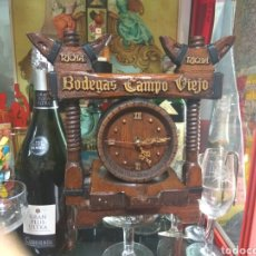 Coleccionismo de vinos y licores: RELOJ BODEGAS CAMPO VIEJO RIOJA-MADERA. Lote 117447511