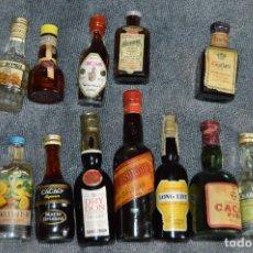Coleccionismo de vinos y licores: COLECCIÓN BOTELLINES EN MINIATURA - LICORES - ANTIGUOS Y SIN ABRIR - VINTAGE Y ORIGINALES - VARIADOS. Lote 117813519