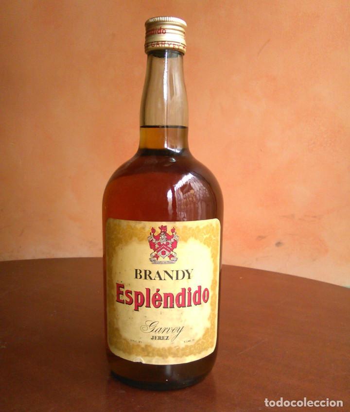 BOTELLA DE BRANDY ESPLÉNDIDO. BODEGAS GARVEY, JEREZ. AÑOS 70. (Coleccionismo - Botellas y Bebidas - Vinos, Licores y Aguardientes)