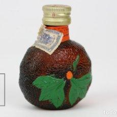 Coleccionismo de vinos y licores: BOTELLÍN / BOTELLA MINIATURA - LICOR CREMA MANDARINA - MOLLFULLEDA, ARENYS DE MAR - SELLO 1 PTA. Lote 121352108