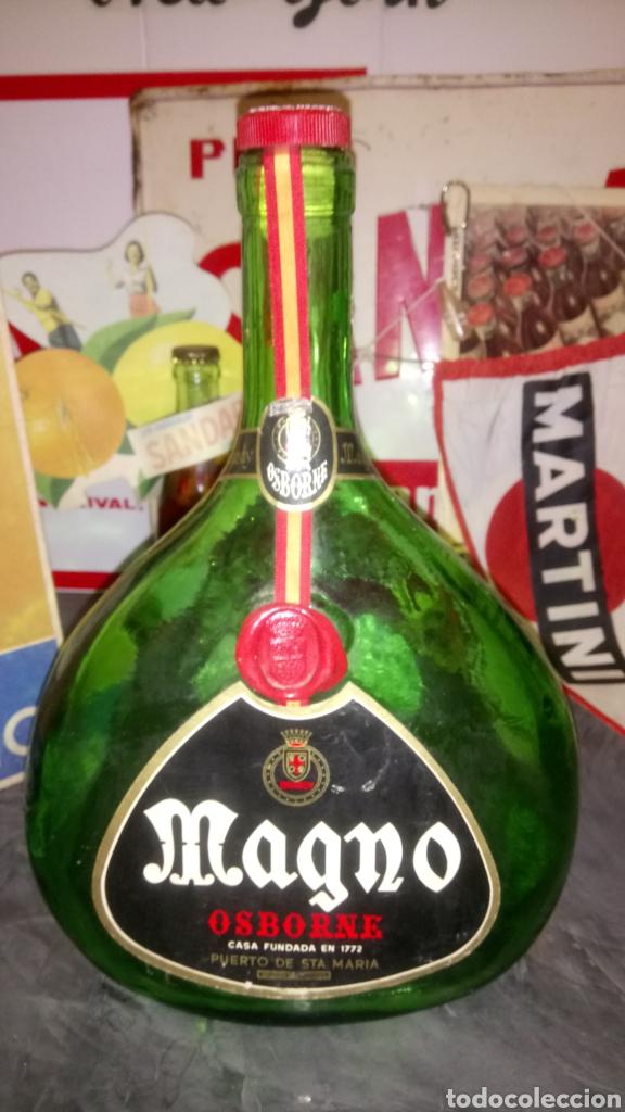 BOTELLA COGNAC MAGNO DE OSBORNE. (Coleccionismo - Botellas y Bebidas - Vinos, Licores y Aguardientes)
