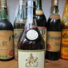 Coleccionismo de vinos y licores: ANTIGUA BOTELLA BRANDY COÑAC, 12 SOLERAS RESERVA ENVASADO ESPECIALMENTE PARA EL CORTE INGLES. Lote 121454815