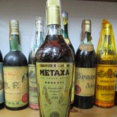Coleccionismo de vinos y licores: ANTIGUA BOTELLA BRANDY COÑAC, METAXA 1888 GRECIA. Lote 121525459