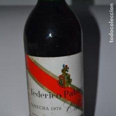 Coleccionismo de vinos y licores: BOTELLA DE VINO DE RIOJA PATERNINA BANDA ROJA DE 1970. Lote 118902207