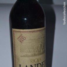 Coleccionismo de vinos y licores: BOTELLA DE VINO LANDER 1970. Lote 119768387