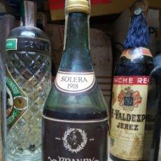 Coleccionismo de vinos y licores: BRANDY BRUCH MUY RARA CON MERMA. Lote 122609020