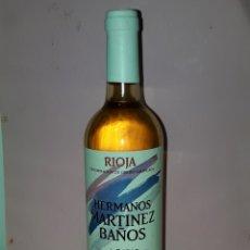Coleccionismo de vinos y licores: BOTELLA RIOJA HERMANOS MARTINEZ BAÑOS COSECHA 2009. Lote 122714890
