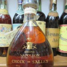 Coleccionismo de vinos y licores: ANTIGUA BOTELLA BRANDY COÑAC,ARMAGNAC NAPOLEÒN CROIX DE SALLES. Lote 124283859