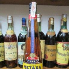 Coleccionismo de vinos y licores: ANTIGUA BOTELLA BRANDY COÑAC, METAXA CLASSIC PRODUCE GRACIA. Lote 124286079